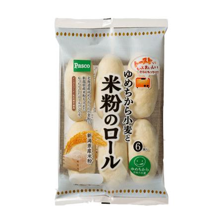 ゆめちから小麦と米粉のロール 6個入(Pasco)